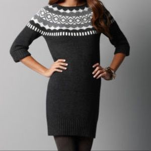 Ann Taylor LOFT Fairisle Sweater Dress
